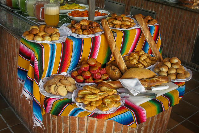Breakfast breads at Sandos Playacar beach resort and spa