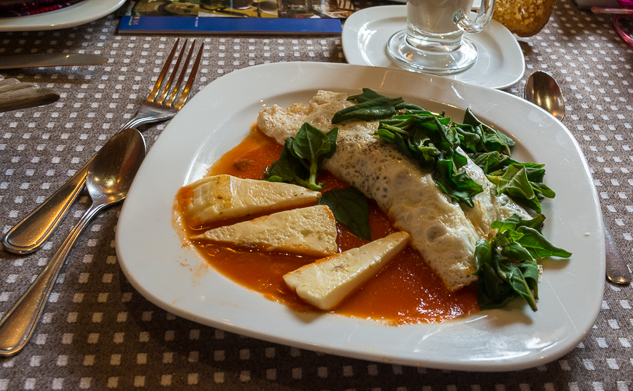 Omelette Omelette at Tierra y Ciedo Restuarant and Hotel.