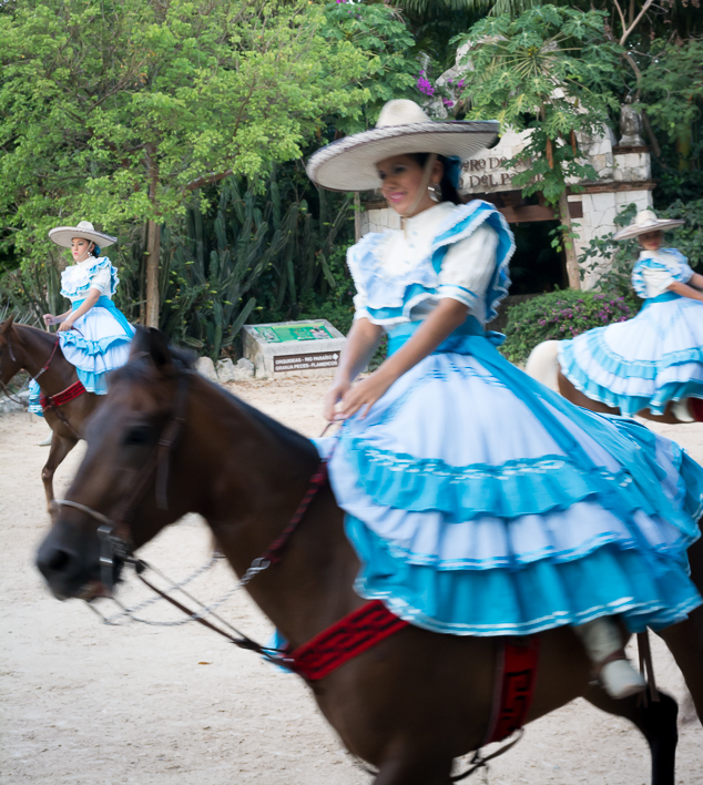 Horse show at Xcaret Park in Playa del Carmen